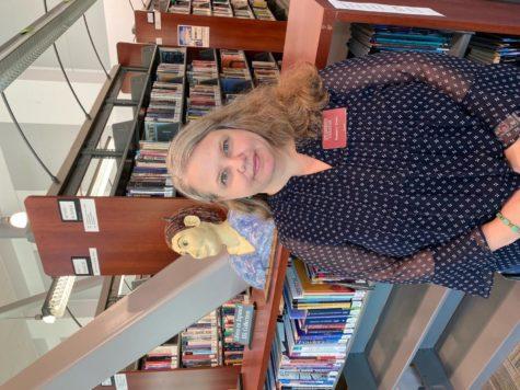 LMC Librarian Roseann Erwin inside the Brentwood Center.