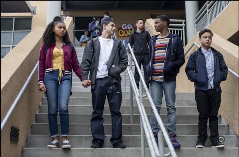 From left to right, Monse Finnie (Sierra Capri), Cesar Diaz (Diego Tinoco), Jamal Turner (Brett Gray) and Ruby Martinez (Jason Genao).